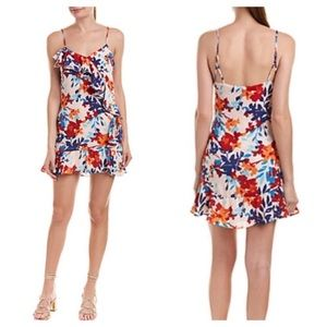 New Parker Floral Ruffled Mini Dress
